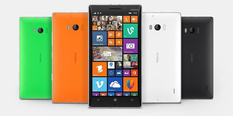 Nokia Lumia 930 dengan sistem operasi Windows Phone 8.1