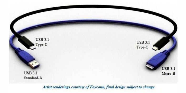 USB dengan dua ujung serupa ini diterbitkan di situs teknologi The Verge.