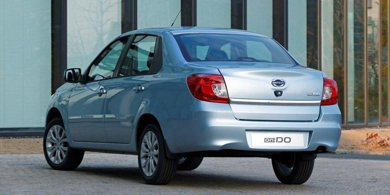 Bagian belakang Datsun on-Do.