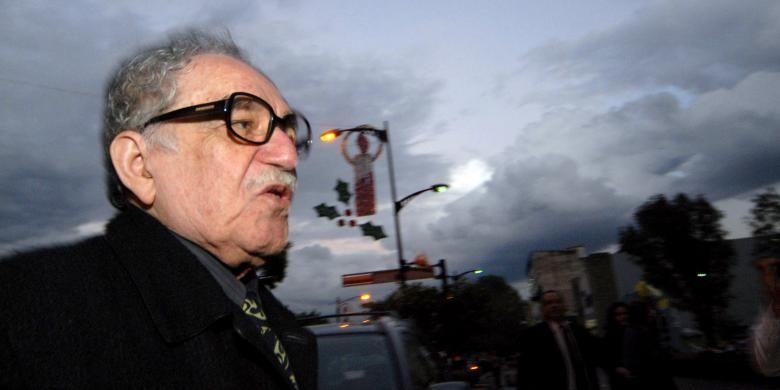 Gabriel Garcia Marquez, penulis novel, perintis aliran jurnalisme New Media, dan penerima Nobel Sastra pada 1982, meninggal di kediamannya di Mexico City, Meksiko, Kamis (17/4/2014). Foto ini merupakan dokumen dari gambar yang diambil pada 23 November 2007.