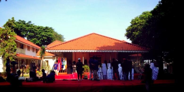 Gedung Joeang di Menteng, Jakarta Pusat, tempat Jokowi akan mendeklarasikan calon wakil presiden pada Senin (19/5/2014). Foto dari Twitter JKW4P.