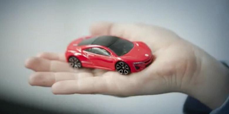 Sewa mainan Hot Wheels di Europcar, Perancis, seperti sewa mobil sungguhan.