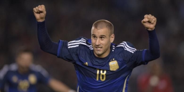 Striker tim nasional Argentina, Rodrigo Palacio.