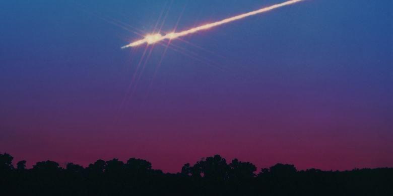 Ilustrasi meteor