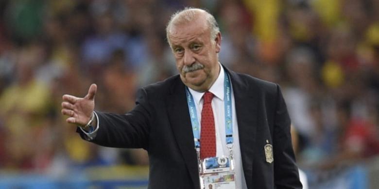 Pelatih tim nasional Spanyol, Vicente del Bosque.