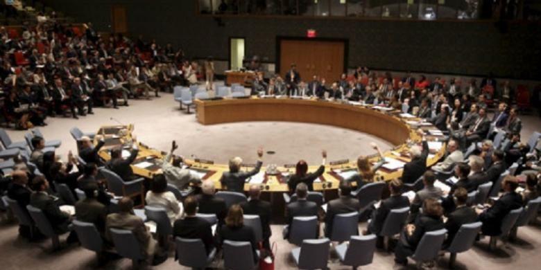 Suasana sidang Dewan Keamanan PBB.