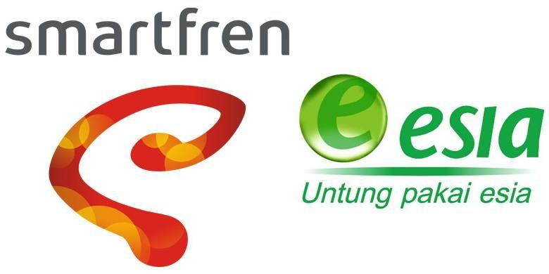 Logo Smartfren dan Bakrie Telecom (Esia)