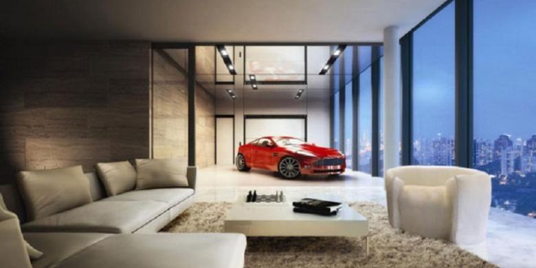 Hamilton Scotts dirancang sebagai apartemen mewah yang memungkinkan penghuni memarkir kendaraannya di dalam unit.