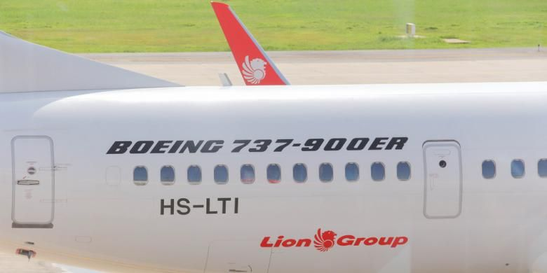 Pesawat Lion Air Boeing 737-900ER.