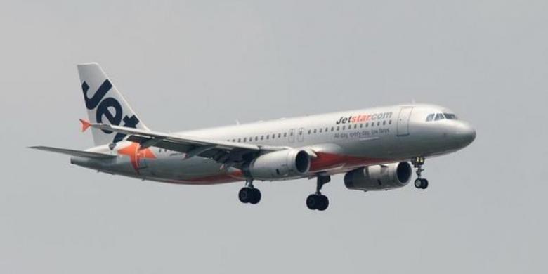Maskapai penerbangan Jetstar.
