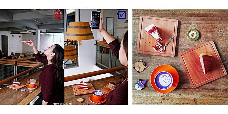 Ilustrasi food photography dengan oppo N3