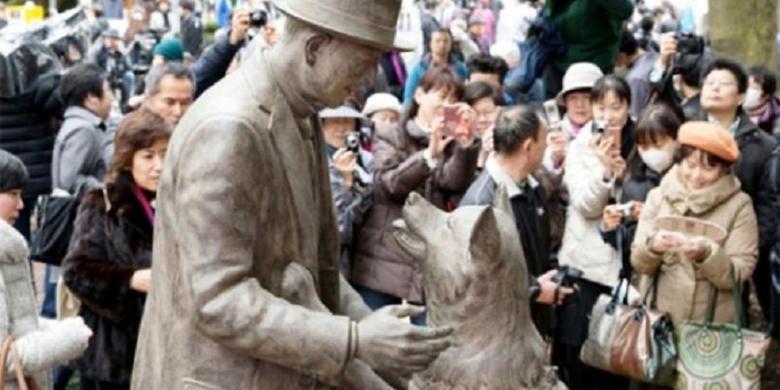 Patung Hachiko menemui Tuannya
