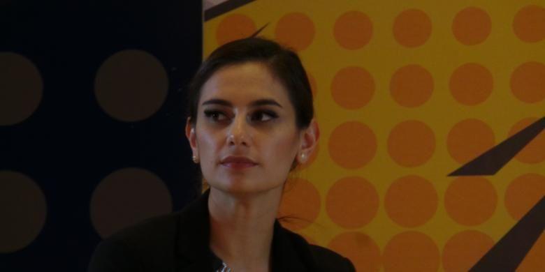Marissa Nasution diabadikan dalam diskusi wirausaha, di Jakarta Convention Center, Senayan, Jakarta Pusat, Sabtu (14/3/2015).