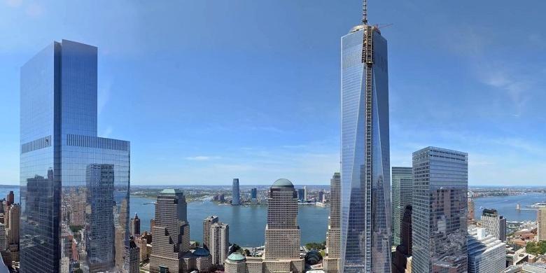 Observatorium One World Trade Center resmi dibuka untuk umum pada Jumat silam.