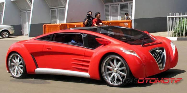 Mobil listrik gagasan Dahlan Iskan, Tuxuci, mirip Bugatti Veyron.