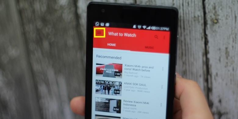 Langkah mengakses konten YouTube 360 derajat di perangkat Android