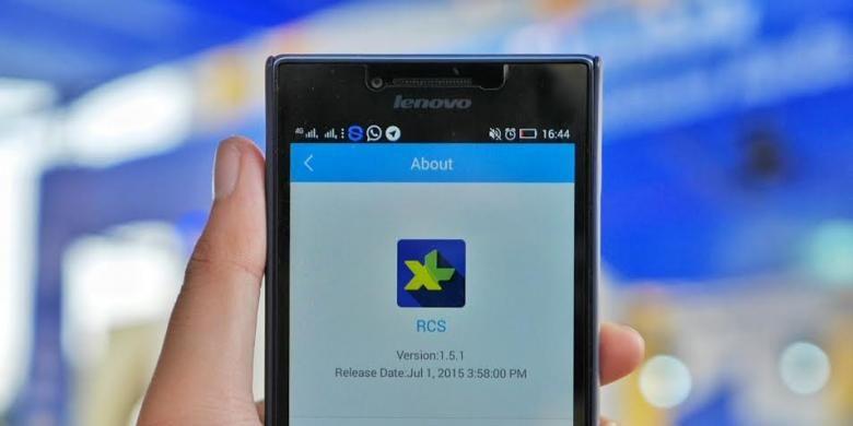 Tampilan aplikasi RCS dari XL Axiata.