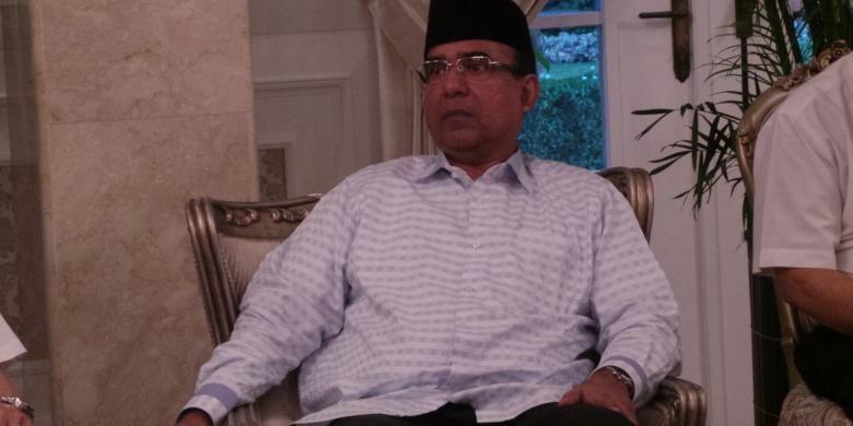 Anggota fraksi Partai Golkar DPRD DKI Ashraf Ali saat menghadiri buka puasa bersama DKI-DPRD, di rumah dinas gubernur, Jalan Taman Suropati Nomor 7, Menteng, Jakarta, Kamis (9/7/2015).