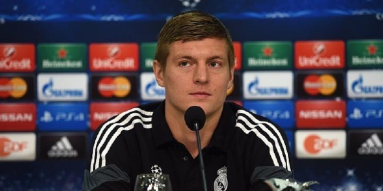 Gelandang Real Madrid asal Jerman, Toni Kroos.