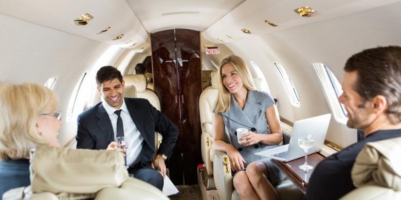 Ilustrasi layanan private jet