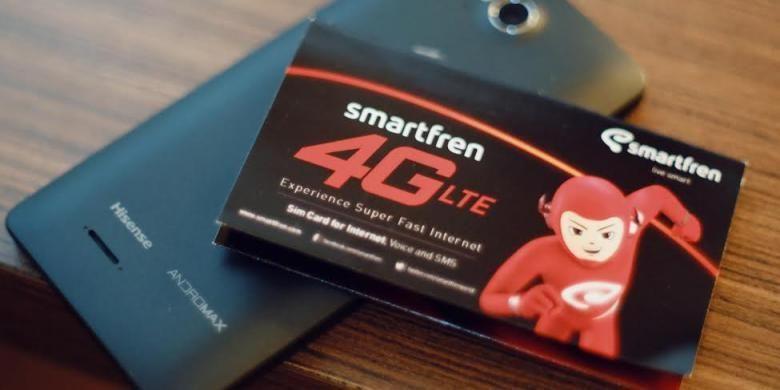 Perangkat dan kartu perdana 4G Smartfren.