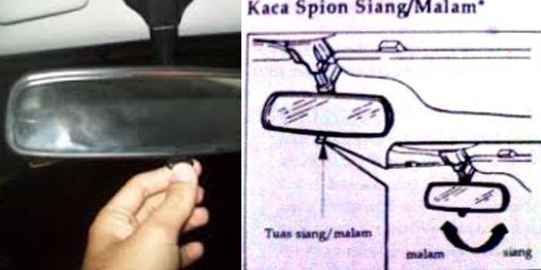 fungsi spion tengah pada kabin