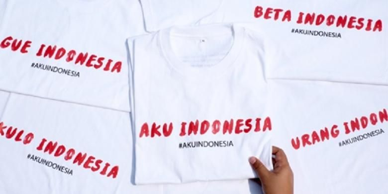 Desain kaos AkuIndonesia.