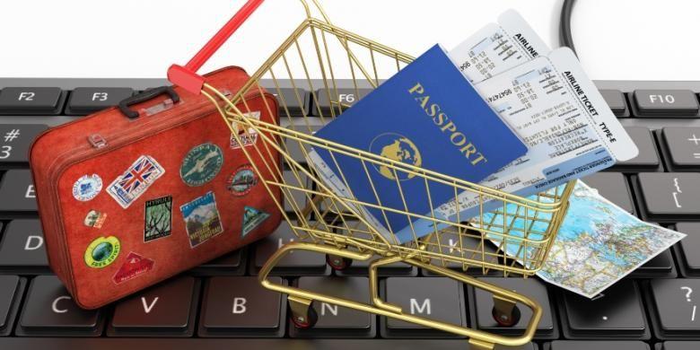 Pemesanan paket wisata dan tiket pesawat secara online.