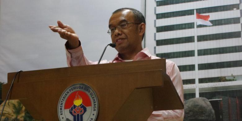 Juru bicara Kementerian Pemuda dan Olahraga (Kemenpora), Gatot S. Dewa Broto.