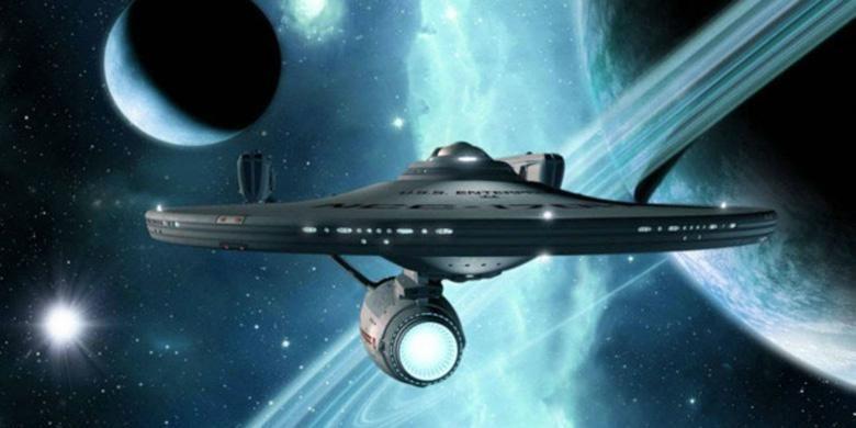 Ilustrasi pesawat luar angkasa dalam film Star Trek