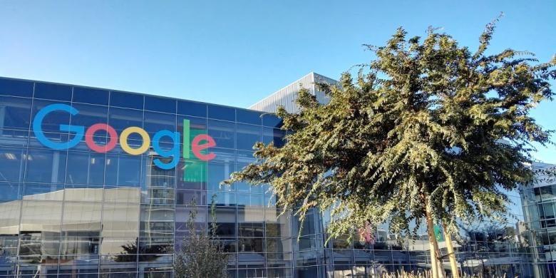 Salah satu gedung di kantor pusat Google, Mountain View, California.