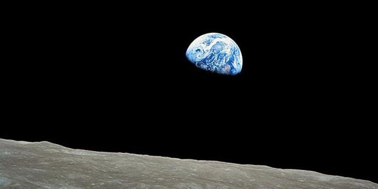 Foto earthrises yang mengingatkan pada hasil jepretan astronot William Sanders pada 1968 silam