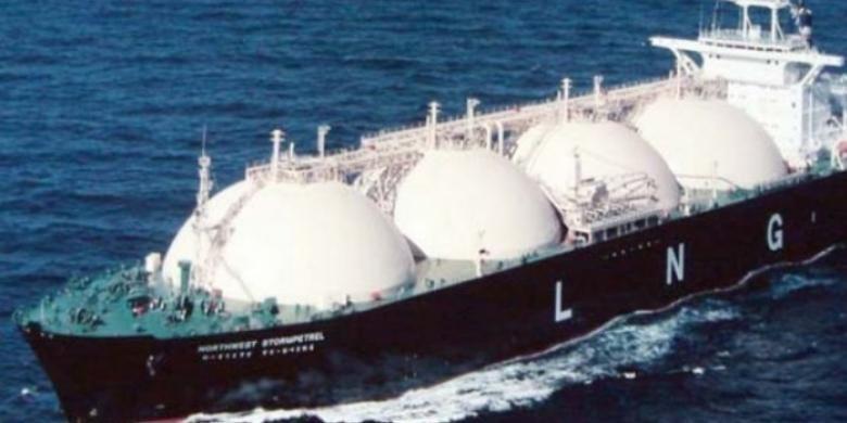 ILUSTRASI: Kapal floating LNG