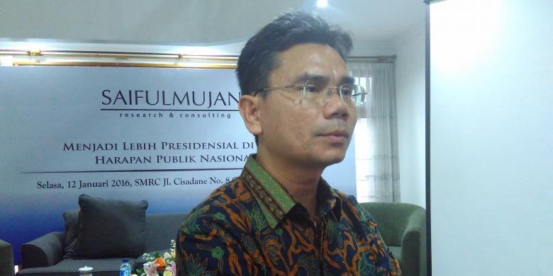 Direktur Eksekutif SMRC Djayadi Hanan