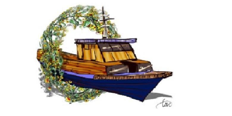 Ilustrasi kecelakaan kapal