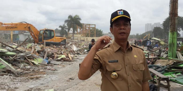 Wali Kota Jakarta Utara Rustam Effendi saat penertiban kawasan Kalijodo, Penjaringan, Jakarta Utara, Senin (29/2/2016).