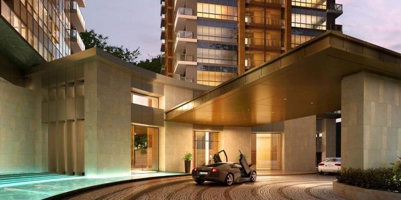 Drop off area, apartemen Branz Simatupang