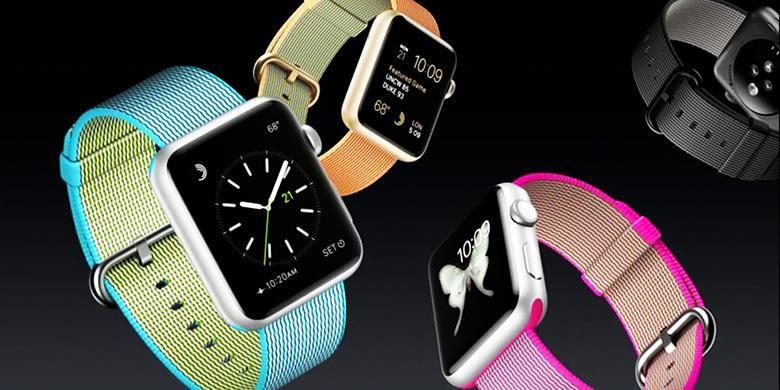 Sabuk Nylon band untuk Apple Watch yang diperkenalkan dalam acara hari Senin (21/3/2016) tersedia dalam sejumlah pilihan warna