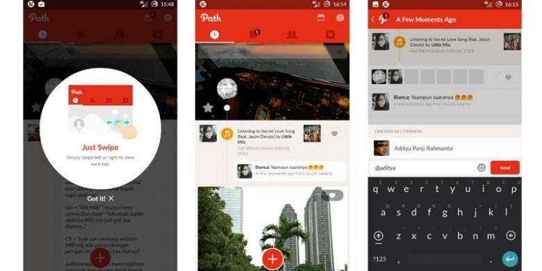 Wajah baru Path untuk Android