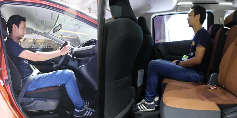 Duduk di baris kedua Toyota Sienta