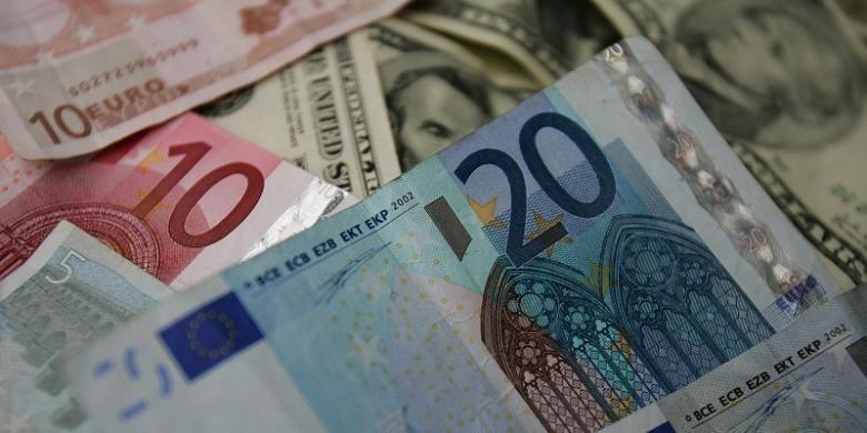 Ilustrasi uang kertas.