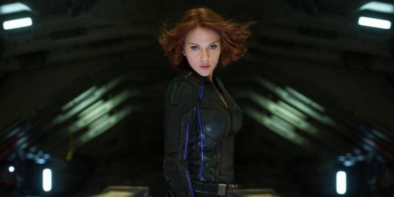 Scarlett Johansson beraksi sebagai Black Widow dalam Avengers: Age of Ultron (2015)