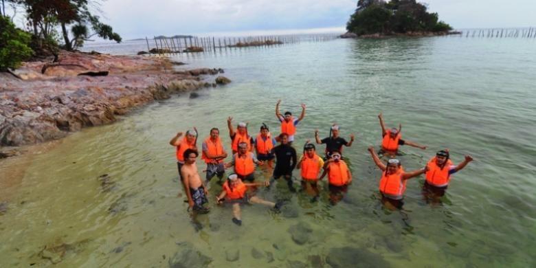 Pulau Petong di Batam, Kepulauan Riau.