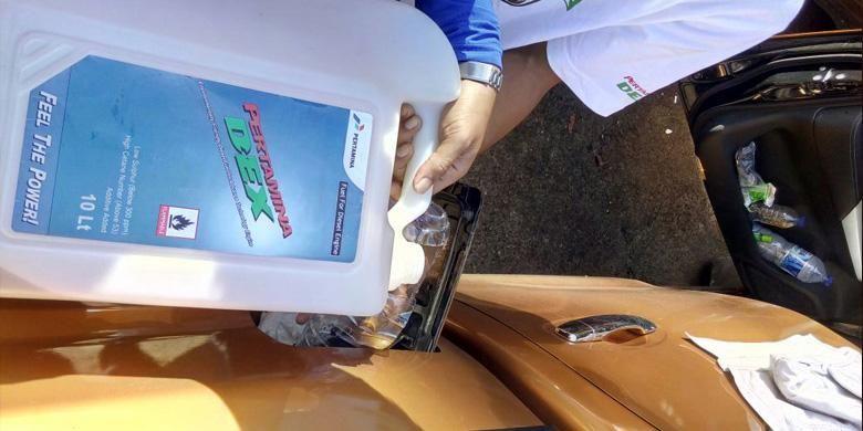 Distribusi Pertamina Dex cukup merata di Pulau Jawa dan Bali, meskipun menggunakan wadah khusus.