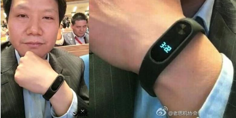Xiaomi Mi Band 2 dipakai oleh CEO Xiaomi, Lei Jun.