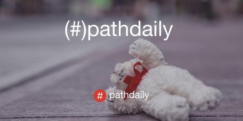 Fitur visual #pathdaily di media sosial Path
