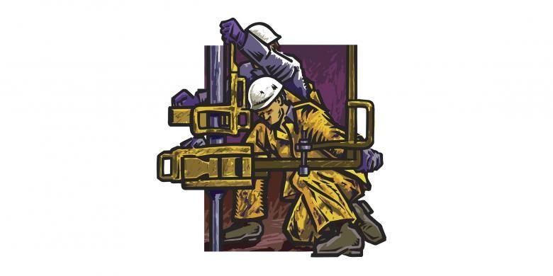 Ilustrasi pekerja berat