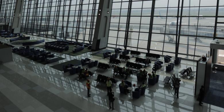 Suasana di Terminal 3 Ultimate Soekarno-Hatta, Tangerang, Banten, Minggu (12/6/2016). Terminal ini memiliki kapasitas 25 juta penumpang per tahun.