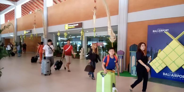 Kedatangan penumpang domestik di Banda I Gusti Ngurah Rai Bali
