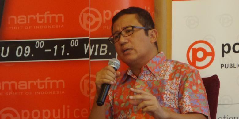 Wakil Sekretaris Jenderal Partai Demokrat, Didi Irawadi Syamsuddin dalam sebuah acara diskusi di bilangan Menteng, Jakarta Pusat, Sabtu (23/7/2016)